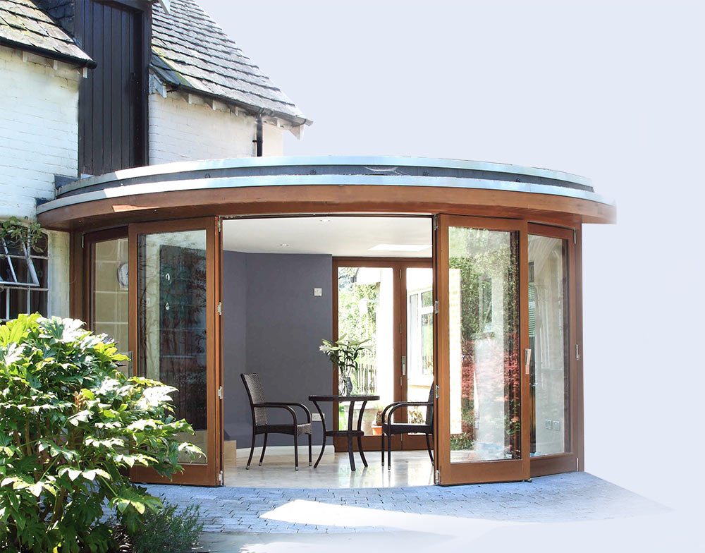 Bespoke Curved Folding Doors